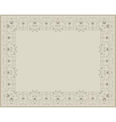 Floral vintage beige border vector image