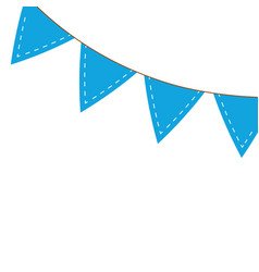 Garlands blue hanging decoration isolated icon vector