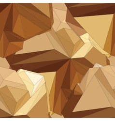 Gold seamless polygonal pattern vector image