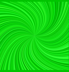Green abstract spiral rays background vector