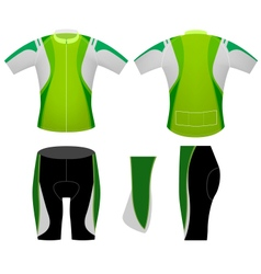 Green sports cycling vest vector
