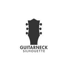 guitar neck logo design template isolated vector image