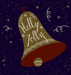 Holly Jolly card vector image