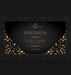 Black Gold Luxury Invitation Vector Images Over 11 000