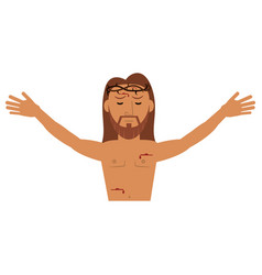 jesus christ resurrection catholic image vector image