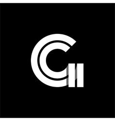 Letter G wide white stripes Logo monogram emblem vector image vector image