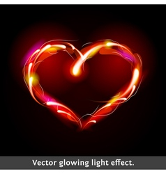 light effect heart vector image