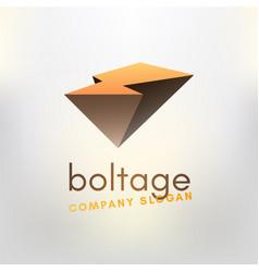 Logo-boltage vector