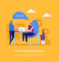 Management collaborations flat background vector