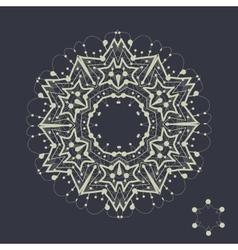Mandala design Outlined shape inspired by tribal vector image