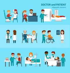 Medical infographic elements with doctor and vector
