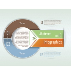 Modern Infographics template Circle design vector image
