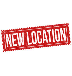 new location sign or stamp vector image