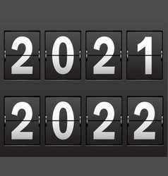 new years date 2021 2022 on mechanical vector image