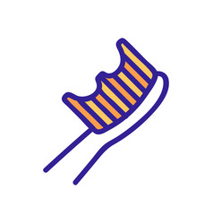 Orthodontic brush for teeth and gums icon vector