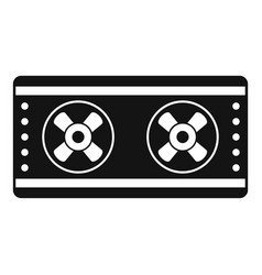 outside conditioner fans icon simple style vector image