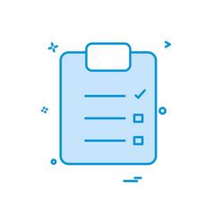 paper list icon design vector image