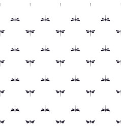 pattern with silhouettes dragonfly vector image