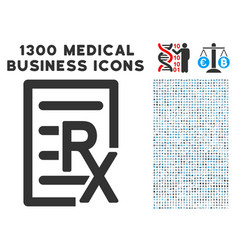 Receipt icon with 1300 medical business icons vector