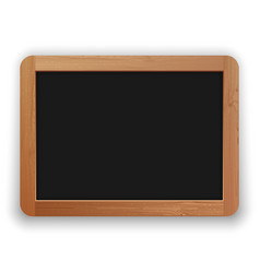school blackboard with wooden frame vector image