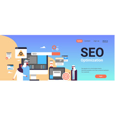 Seo search engine optimization arabic couple man vector
