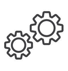 settings line icon cogwheels and website vector image