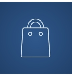 Shopping bag line icon vector image