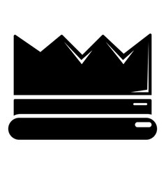 Silver crown icon simple black style vector