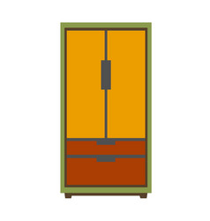 Simple big wardrobe vector