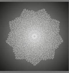 Simple plant mandala with curls vector