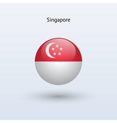 Singapore round flag vector image