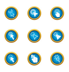Snap icons set flat style vector