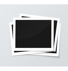 Stack of blank horizontal photo frames from vector