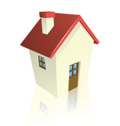 Stylized cottage or house vector