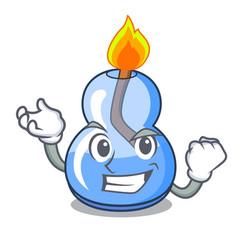 Successful alcohol burner character cartoon vector