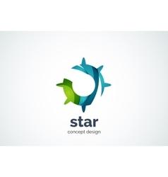 Sun logo template shining star concept vector image
