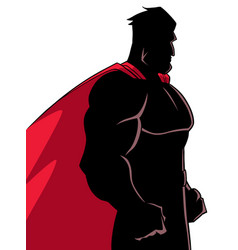 Superhero side profile silhouette vector