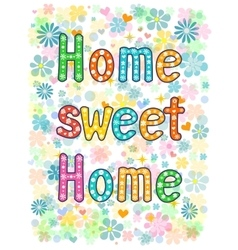 Sweet home lettering decorative text vector