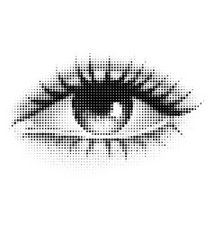 the human eye in halftone vector image