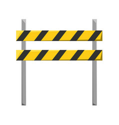 Trafic barrier vector
