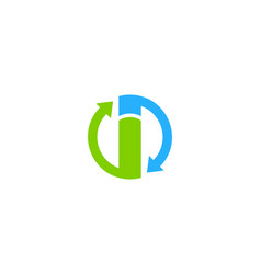 transfer letter i logo icon design vector image