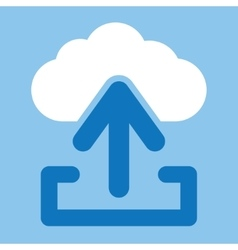 Upload from cloud icon vector