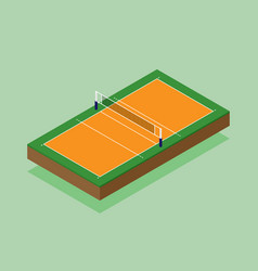 Volleyball court isometric flat design vector
