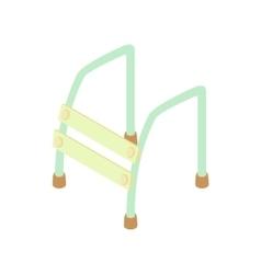 Walking frame icon cartoon style vector image