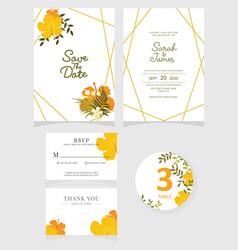 Wedding invitation card template eps 10 vector