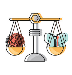 weight scale icon vector image