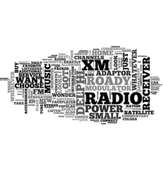 What are the features of delphi xm roady radio vector