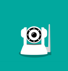 White ip camera in flat style vector