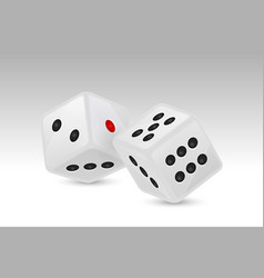 white realistic game dice vector image