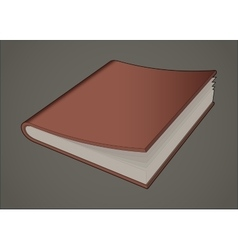Book notebook vector image
